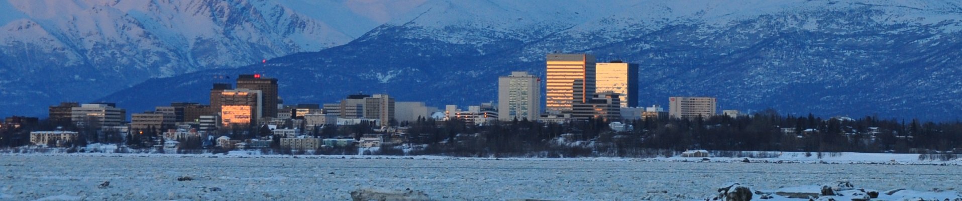 Anchorage Winter Night